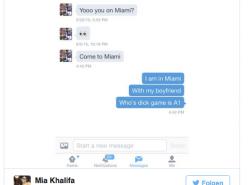 Pornostar Mia Khalifa stellt NFL-Profi öffentlich bloß